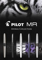 medio animal al por mayor-Pilot FP-MR2-88g Pluma estilográfica Estuche de metal Pluma Metropolitana Suave Punta mediana Estampado animal