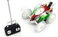 moteurs électriques pour petites voitures achat en gros de-Enfants Drôle Mini Rc Voiture Télécommande Jouet Stunt Voiture Monster Truck Radio Électrique Danse Dérive Modèle De Roue Rotative Véhicule Moteur