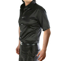 Wholesale plus size house dress resale online - YJSFG HOUSE New Brand Men s Shirts Party Slim Fit Dress Shirts Short Sleeve Button Formal Casual Top Shirt Plus Size Summer Tees