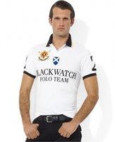 relojes xxl hombre s al por mayor-Bordado manga corta poloshirt hombres camiseta BLACK WATCH POLO TEAM Custom Fit S M L XL XXL 2XL
