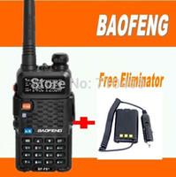 cargador de coche baofeng al por mayor-DHL FreeShipping + Baofeng BF-F8 + midland walkie talkie de banda dual vhf uhf radio portátil con cargador de automóvil eliminador para uv 5r