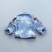 438a4cfa13fe Kaufen Sie im Großhandel Baby-jeans-stickerei 2018 zum verkauf aus ...