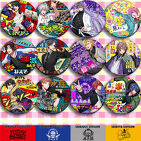 ingrosso christmas button-Anime Cartoon Divisione Rap Battaglia Buster Bros Saburo Yamada Pin Button Spilla Badge Regalo di Natale 12 Pz / set