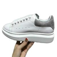 a4829d64e Дизайнер Luxury Man Повседневная обувь для фитнеса Кожа Мужская женская мода  Белая кожаная удобная обувь Плоская повседневная обувь Daily Jogging