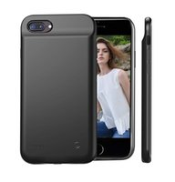 """Wholesale battery pack case for iphone - Black Case Charger Lightning for iPhone 5.5"""", 8000mAh Extended Rechargeable iPhone 8 7 6 6s Plus Battery Pack Case Charger"""