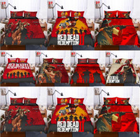 Wholesale boys full size bedding for sale - Bedding sets Red Dead Redemption Cover Set Sheets quilt Pillowcase Full King Queen Twin kids Size Bedding Set Boys Room Bedding