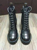 boncuklu çizmeler toptan satış-Vvtisks5 Sürme Açık kenar boncuklu deri pürüzsüz çizmeler Kadın Moda Yağmur Çizme BOOTS BOOTIES SNEAKERS Elbise Ayakkabı