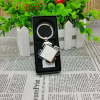 Metal Blank Plain Sublimation buckle ring heat trasnfer printing Blank KeyChain zinc alloy pendant Material