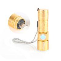 ingrosso lampade ricaricabili luminose-Set lampada con torcia a LED ricaricabile ultra luminosa e ricaricabile