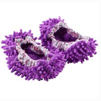 Discount floor duster - 2018 Wholesales Home Mop Sweep Floor cleaning duster cloth housework lazy soft Slipper shoes Cleaning Brushes