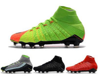Wholesale acc turf soccer shoes for sale - Group buy New High Ankle Football Boots Hypervenom Phantom III DF FG ACC Soccer Shoes EA Sport Hypervenom Indoor TF IC Turf Soccer Cleats