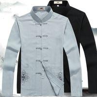 traje de macho al por mayor-Chino tradicional oriental ropa para hombres traje de tang chino hombres ropa masculina tradicional diseños traje de espiga