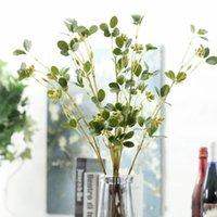 ingrosso decorazione di falsi vitigni-Vite di fiori di plastica verde Vite di vitalità artificiale Foglia di gelsomino Fiori finti di rattan Decorazione di nozze di vimini verde 5 3jm ii
