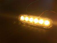 led-lichtleiste gesetzt großhandel-2 Teile / satz 3 Watt LED Blitzlicht Nebelscheinwerfer Bernstein Auto DRL Arbeitslicht Bar 12 V 24 V LED