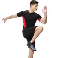 homens gymwear venda por atacado-PSVTEIDE Esporte terno para o homem de fitness workout outfit gym sport homem ternos de compressão fatos de treino jumper 'conjuntos de duas peças de ginástica