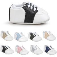 mädchen farbige slips großhandel-8 Farbe Baby Schuhe Multi-farbe rutschfeste Sohlen Baby Mädchen Schuhe Candy Colored Erste Wanderer Schuhe