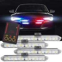 ingrosso luce ambulanza-Luci di emergenza per camion auto Luci dei vigili del fuoco lampeggianti 4 * 6 Led Auto-Styling Ambulance Light Strobe Warning DC 12V