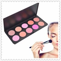 Wholesale makeup blusher products - High-quality 10 Color SET Makeup Blush Face Blusher Powder Palette Cosmetics Maquiagem Professional Makeup Product 0201019