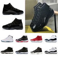 Wholesale Orange Drops - Drop Shipping 2018 Cap and Gown 11 Prom Night 11s XI Gym Red Bred Concord PRM Heiress men women Basketball Shoes sports Sneaker