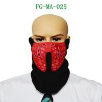 ingrosso maschera audio-Halloween Mask Halloween Sound Reactive Half Face LED Light Up Maschera Dance Rave EDM Party 9.4