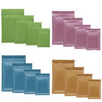 sıkıştırılmış plastik torbalar toptan satış-Sıcak Çok Renkli Açılıp Kapanabilir Zip Mylar Çanta Gıda Depolama Alüminyum Folyo Çantalar plastik ambalaj çantası Koku Geçirmez Torbalar
