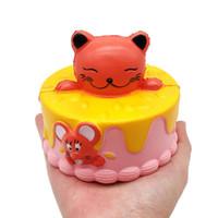 хрустящий кремовый торт оптовых-10CM Squishy Милый маленький медведь Squeeze Cake Медленно растущий крем Ароматические декомпрессионные игрушки squishy oyuncak антистресс squishi детские игрушки