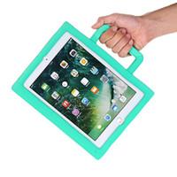 Wholesale kids ipad air case resale online - Kids Safe EVA Case Foam For iPad new mini Air Pro D Cartoon innoxious Children Kids Shockproof Protection Stand