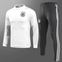 Wholesale free soccer training - 18 19 chandal Germany Training Suit Maillot de Foot 2018 2019 germany Survetement Football adult Soccer Tracksuit jackets kits free express