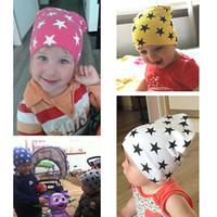 ingrosso cappelli bella ragazza-New Style Beautiful Baby Hat Autunno Inverno Bambini Caps cotone Ragazzi Ragazze Berretti Star Kids Cap Gorros Toddler Hats