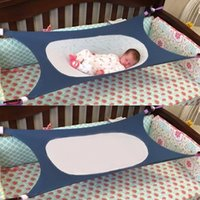 Wholesale beds for babies - Newborn Indoor Baby Sleeping Aerial Hammock Durable Safety High Strength Infant Hamac Cotton Material Cot Beds For Home 117 *75cm