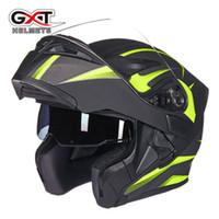 Wholesale flip up visor resale online - GXT Flip Up Motorcycle Helmet Double Lense Visors Full Face Motorbike Helmets Casco Racing Capacete With Bluetooth Moto Casque