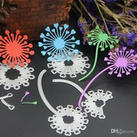 Wholesale carbon cutter for sale - Group buy Dandelion Shape Scrapbook DIY Mold Carbon Steel Embossed Cutter Die Craft Durable Easy To Use Template Top Quality hb CB