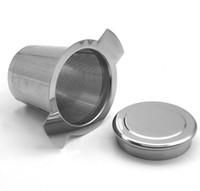 ingrosso maniglie infuser-Creativo infusore per tè in acciaio inossidabile Brew-In-Mug con manici lunghi per ripiegare il coperchio del tè in foglia sciolto incluso Spedizione gratuita