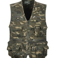 Wholesale waistcoat for men styles - Men Outwear Camo Printed Military Style Vest for Photography Waistcoat Men 81