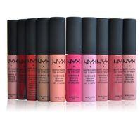Wholesale lipstick waterproof nyx online - Hot NYX Matte Lipgloss Long Lasting Lipsticks NYX Lipgloss Color Waterproof Lip Gloss Brand Glossy Makeup
