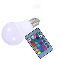 Wholesale light bulbs change colors online - Durable Colorful RGB Led Light Bulb Colors Dimmable RGB W LED Color Changing lamp Bulb with Remote Control For Party Home