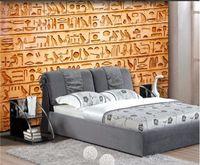 росписи птиц оптовых-Пользовательские фото обои HD птицы египетский рельеф фрески ТВ фон гостиная спальня диван фон фрески обои hd обои