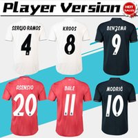 Wholesale real player for sale - 2019 Player Version Home White Real Madrid Soccer Jerseys away Soccer Shirt BALE rd red Football Uniforms ASENSIO ISCO size S XL