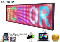 "Wholesale led open outdoor sign - LED Programmable Electronic P13 RGB COLOR OUTDOOR Sign LED Display 39"" X 14"" USB + Phone WIFI Control Open Running Message Board Display"