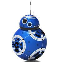 robô controlado venda por atacado-RC BB8 Droid Robot BB8 Bola inteligente Ação Robot Kid Toy Presente com controle remoto Som 2.4G