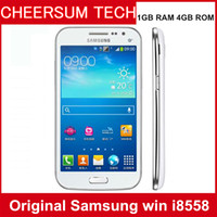 Wholesale android phone 4.7 resale online - Unlocked Original Samsung galaxy win I8558 phone refurbished Android Wifi GPS G Quad Core GB RAM samsung i8558 cellphone