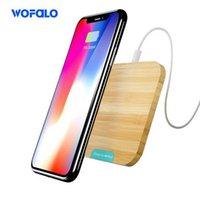 bambus-ladegerät großhandel-Phone X Wireless Ladegerät, Wofalo Bamboo Qi Wireless Ladegerät Pad Ultra Slim für Telefon 8/8 Plus / X und für Samsung Galaxys9