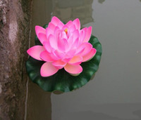 Wholesale aquariums free shipping resale online - 18CM Artificial Floating Lotus Flowers Garden Aquarium Floating Lotus Lotus Pool Happytime Artificial Water Lilies
