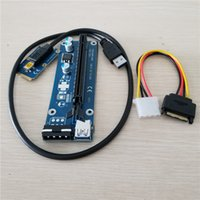 ide mini pci e al por mayor-10set / lot Mini PCIe a PCI-e 16X Riser SATA a IDE Molex Power USB 3.0 Cable para Laptop Tarjeta de video externa EXP GDC Bitcoin Miner 60cm