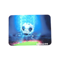Wholesale glass artworks - silicone canvas print mat non-slip Abstract Design with 2018 world cup football artwork Washable mats for glass pipe, Dining Room Kitchen