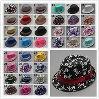 Wholesale baby boy brim hats - 36style Unisex casual fedora trilby hat Baby kids children's Caps accessories hat dandys Jazz cap R157