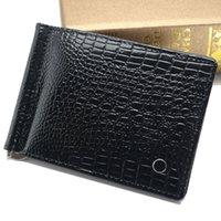 clips de dinheiro venda por atacado-Homens de luxo de couro genuíno MB carteira homem carteira curto de bezerro MT carteira Cash clip grátis