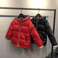 parka de inverno menino bebê venda por atacado-2018 casacos de inverno para crianças de luz crianças pato para baixo casaco meninas do bebê meninos parka outerwear hoodies zipper casaco 110-160