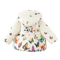 veste bébé garçon 12 18 mois achat en gros de-Mode Enfant Bébé Filles Manteau D'hiver Nourrissons Enfant Coton Papillon Parkas Outwear Fille Vers Le Bas Vêtements