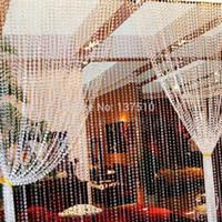 hochzeit 99 großhandel-Acryl 99 Fuß Girlande Diamant Strang Acryl Kristall Perlen Hochzeitsdekoration Kristall 10mm Hanging Party Supplies